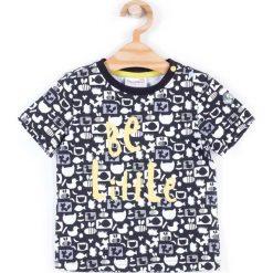 Coccodrillo - T-shirt dziecięcy 74-86 cm. Białe t-shirty chłopięce z nadrukiem marki COCCODRILLO, m, z bawełny, z okrągłym kołnierzem. Za 42,90 zł.