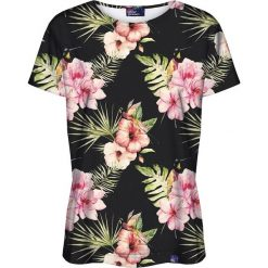 Colour Pleasure Koszulka damska CP-030 159 czarno-różowa r. M/L. Fioletowe bluzki damskie marki Colour pleasure, uniwersalny. Za 70,35 zł.