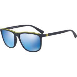 Emporio Armani - Okulary 0EA4109. Szare okulary przeciwsłoneczne męskie marki Emporio Armani, l, z nadrukiem, z bawełny, z okrągłym kołnierzem. Za 679,90 zł.