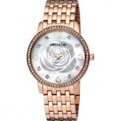 Zegarek kwarcowy w kolorze perłowobiało-różowozłotym. Żółte, analogowe zegarki damskie Esprit Watches, ze stali. W wyprzedaży za 204,95 zł.