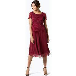 Apriori - Damska sukienka wieczorowa, czerwony. Czerwone sukienki balowe Apriori, w koronkowe wzory, z koronki, baskinki. Za 699,95 zł.