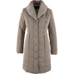 Płaszcze damskie pastelowe: Płaszcz pikowany bonprix brunatny