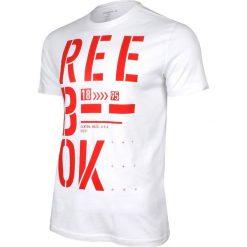 Reebok Koszulka Stencil Graphic Tee biała r. M (AJ2663). Białe koszulki sportowe męskie Reebok, m. Za 65,66 zł.