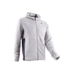 Bluza na zamek z kapturem Gym & Pilates 560 męska. Szare bluzy męskie rozpinane marki Adidas, m, z bawełny, z kapturem. Za 219,99 zł.