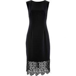 Sukienka bonprix czarny. Czarne sukienki hiszpanki bonprix, bez rękawów, mini, dopasowane. Za 109,99 zł.