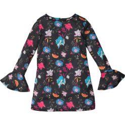 Sukienki dziewczęce: Sukienka z rozkloszowanymi rękawami bonprix czarny wzorzysty