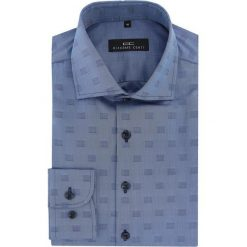 Koszula RICCARDO 16-06-17. Szare koszule męskie na spinki marki S.Oliver, l, z bawełny, z włoskim kołnierzykiem, z długim rękawem. Za 199,00 zł.