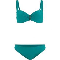 Bikini na fiszbinach (2 części) bonprix niebieskozielony. Niebieskie bikini bonprix. Za 109,99 zł.