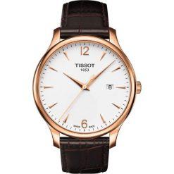 PROMOCJA ZEGAREK TISSOT T-Classic T063.610.36.037.00. Białe zegarki męskie marki TISSOT, ze stali. W wyprzedaży za 1139,60 zł.