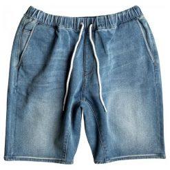 Quiksilver Spodenki Fonic Denim Fleece Short Blur S. Niebieskie spodenki jeansowe męskie marki Quiksilver, eleganckie. W wyprzedaży za 163,00 zł.