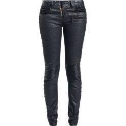Spodnie damskie: Rock Rebel by EMP Leo Megan (Skinny Fit) Spodnie damskie czarny