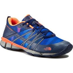 Buty THE NORTH FACE - Litewave Ampere T0CXU1GSL-050 Patriot Blue Print/Tropical Coral. Niebieskie buty do biegania damskie The North Face, z materiału. W wyprzedaży za 219,00 zł.