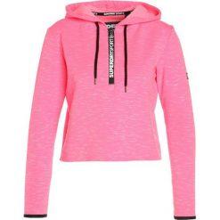 Bluzy damskie: Superdry Bluza z kapturem pop pink marl