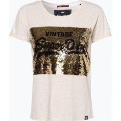 Superdry - T-shirt damski, beżowy. Brązowe t-shirty damskie Superdry, l. Za 179,95 zł.