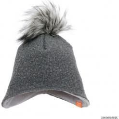 Czapka zimowa z pomponem - popiel. Szare czapeczki niemowlęce marki Pakamera, na zimę, z polaru. Za 79,00 zł.