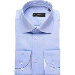 Koszula Niebieska Miramar 2. Niebieskie koszule męskie na spinki marki LANCERTO, z bawełny. Za 299,90 zł.