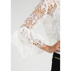 Bluzki asymetryczne: Endless Rose CROCHET LACE WITH RIBBON TIES AT BACK  Bluzka off white
