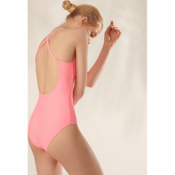 Stroje kąpielowe damskie: Jednoczęściowy strój kąpielowy - Pomarańczowy