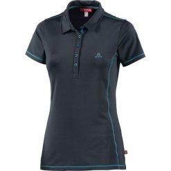 Bluzki damskie: Koszulka polo w kolorze granatowym