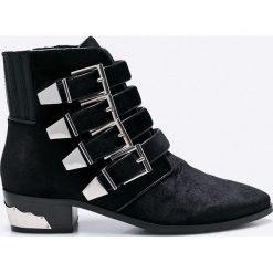 Bronx - Botki. Czarne botki damskie skórzane marki Bronx. W wyprzedaży za 179,90 zł.