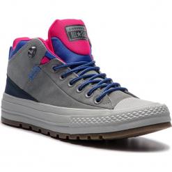 Trampki CONVERSE - Ctas Street Boot Hi 162361C Mason/Obsidian/Pink Pop. Szare tenisówki męskie Converse, z gumy. W wyprzedaży za 299,00 zł.