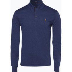 Polo Ralph Lauren - Męska koszulka polo – Slim fit, niebieski. Niebieskie koszulki polo marki Polo Ralph Lauren, m, z bawełny, z długim rękawem. Za 399,95 zł.