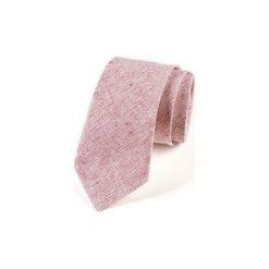 Krawat męski  DRAFT. Czerwone krawaty męskie HisOutfit, z materiału. Za 129,00 zł.