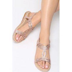 Rzymianki damskie: Różowe Sandały Shopping Trip