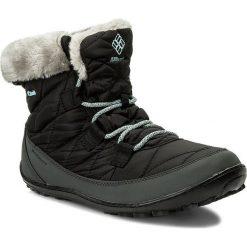 Śniegowce COLUMBIA - Youth Minx Shorty Omni-Heat Waterproof BY1334 Black/Sparay 010. Czarne buty zimowe damskie Columbia, z materiału. W wyprzedaży za 239,00 zł.
