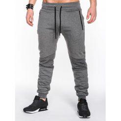 Spodnie męskie: SPODNIE MĘSKIE DRESOWE P465 – GRAFITOWE
