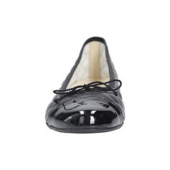 Baleriny Tanex  Czarne baleriny skórzane pikowane z kokardką  778/JULIA. Czarne baleriny damskie z kokardą marki Tanex. Za 229,99 zł.