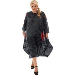 Odzież damska: Sukienka w kolorze czarno-czerwonym