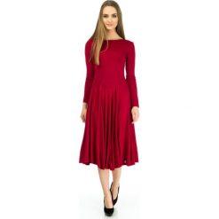 Odzież damska: Sukienka Click Fashion w kolorze bordowym