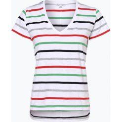 Marie Lund - T-shirt damski, czerwony. Czerwone t-shirty damskie Marie Lund, xl, w paski, z klasycznym kołnierzykiem. Za 59,95 zł.
