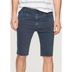 Odzież męska: Jeansowe szorty slim fit - Szary