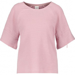 Koszulka w kolorze jasnoróżowym. Czerwone t-shirty damskie marki Taifun, w paski, prążkowane, z okrągłym kołnierzem. W wyprzedaży za 108,95 zł.