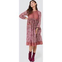 Długie sukienki: Twinset Sukienka Abito Tessuto Midi - Pink,Multicolor