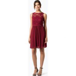Marie Lund - Elegancka sukienka damska, czerwony. Czerwone sukienki balowe Marie Lund, w koronkowe wzory, z koronki, midi. Za 649,95 zł.