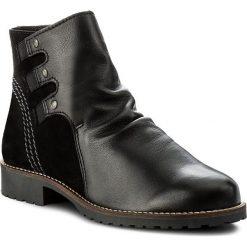 Botki FILIPE - 9120 Preto. Czarne buty zimowe damskie Filipe, ze skóry, na obcasie. W wyprzedaży za 239,00 zł.