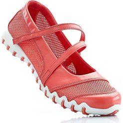 Baleriny bonprix koralowy. Czerwone baleriny damskie lakierowane bonprix, w paski. Za 37,99 zł.