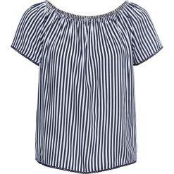 """Bluzka """"carmen"""" bonprix ciemnoniebiesko-biel wełny w paski. Niebieskie bluzki z odkrytymi ramionami marki bonprix. Za 74,99 zł."""