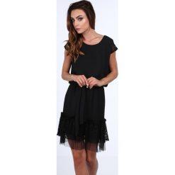 Sukienka wiązana w talii czarna 3034. Czarne sukienki Fasardi, l. Za 69,00 zł.