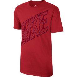 Nike Koszulka NSW Tee Kaishi Block czerwony r. M (834725 602). Czerwone t-shirty męskie Nike, m. Za 82,47 zł.