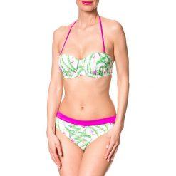 Stroje kąpielowe damskie: Bikini w kolorze biało-zielono-różowym