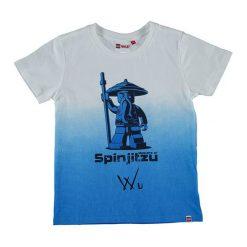"""T-shirty chłopięce z nadrukiem: Koszulka """"Thomas"""" w kolorze biało-niebieskim"""