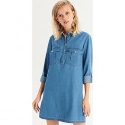 Denimowa sukienka - Niebieski. Niebieskie sukienki Sinsay, l. Za 79,99 zł.
