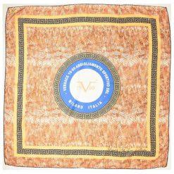 Chusty damskie: Versace 19.69 Chusta Damska Pomarańczowy Snake
