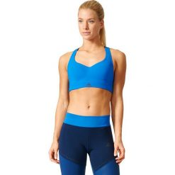 Topy sportowe damskie: Adidas Biustonosz Committed Chill niebieski r. XL (BK3108)