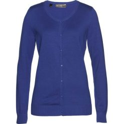 Sweter rozpinany bonprix szafirowy. Niebieskie kardigany damskie marki bonprix. Za 59,99 zł.