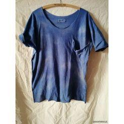 Bluzki, topy, tuniki: T-shirt farbowany niebieski